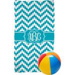 Pixelated Chevron Beach Towel (Personalized)