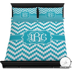 Pixelated Chevron Duvet Cover Set (Personalized)