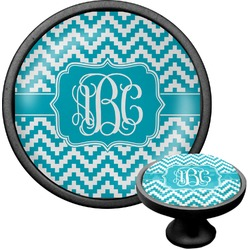 Pixelated Chevron Cabinet Knob (Black) (Personalized)