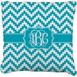 Pixelated Chevron Faux-Linen Throw Pillow (Personalized)
