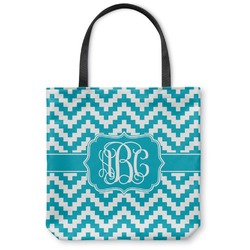 "Pixelated Chevron Canvas Tote Bag - Small - 13""x13"" (Personalized)"