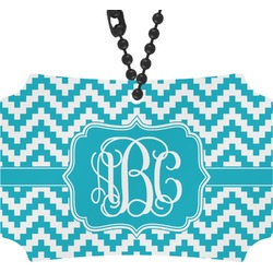 Pixelated Chevron Rear View Mirror Ornament (Personalized)