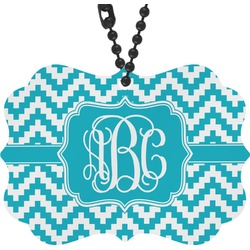 Pixelated Chevron Rear View Mirror Charm (Personalized)