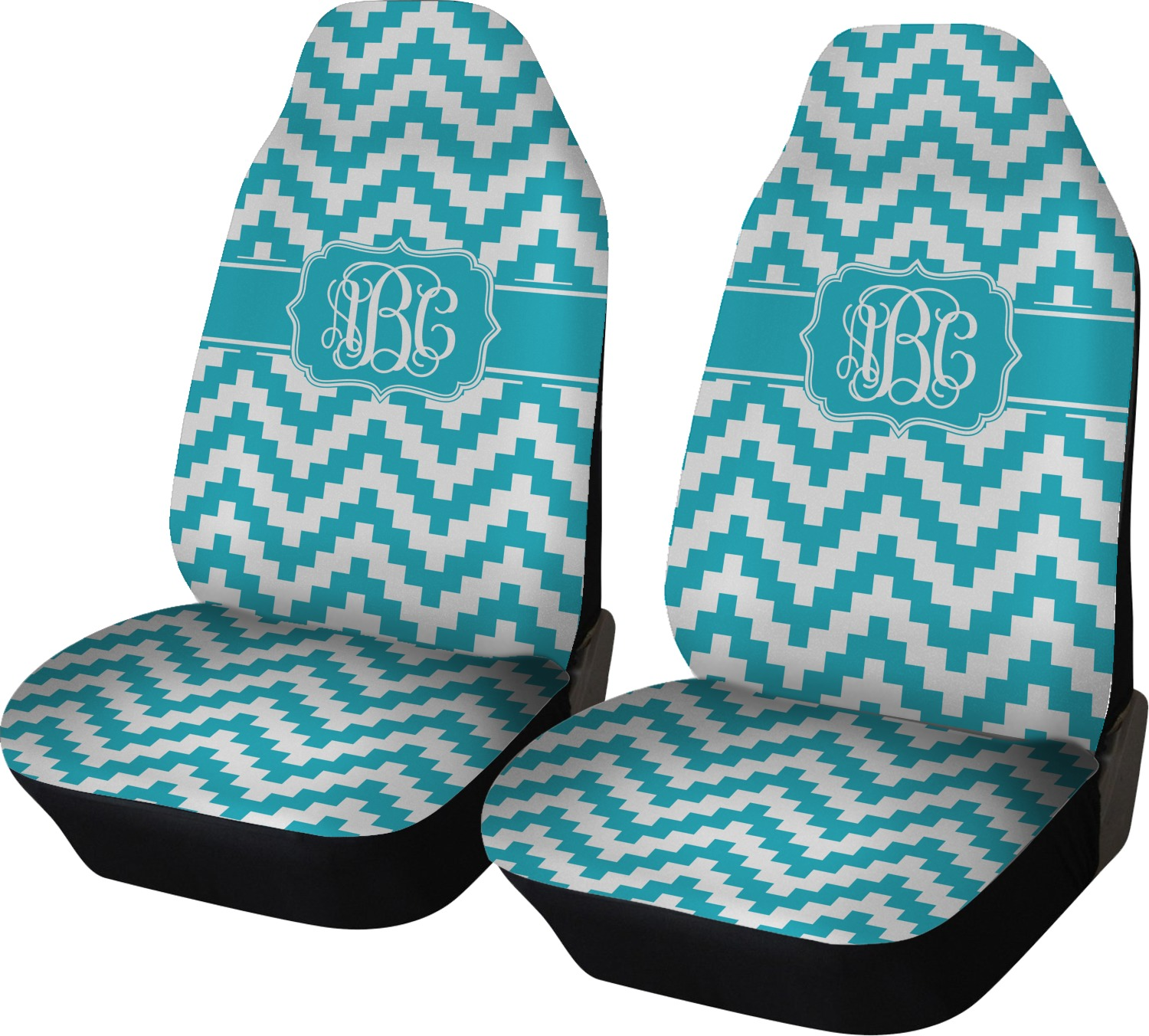 Pixelated Chevron Car Seat Covers Set Of Two