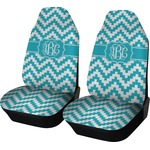 Pixelated Chevron Car Seat Covers (Set of Two) (Personalized)