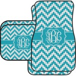 Pixelated Chevron Car Floor Mats Set - 2 Front & 2 Back (Personalized)