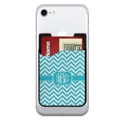 Pixelated Chevron 2-in-1 Cell Phone Credit Card Holder & Screen Cleaner (Personalized)