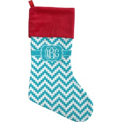 Pixelated Chevron Christmas Stocking (Personalized)