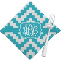 Pixelated Chevron Napkins (Set of 4) (Personalized)