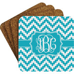 Pixelated Chevron Coaster Set w/ Stand (Personalized)
