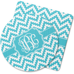 Pixelated Chevron Rubber Backed Coaster (Personalized)