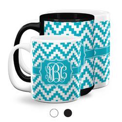Pixelated Chevron Coffee Mugs (Personalized)