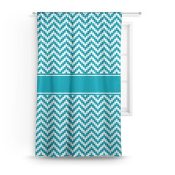 Pixelated Chevron Curtain (Personalized)