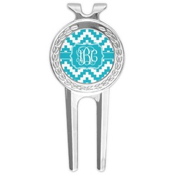 Pixelated Chevron Golf Divot Tool & Ball Marker (Personalized)