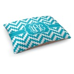 Pixelated Chevron Dog Bed (Personalized)