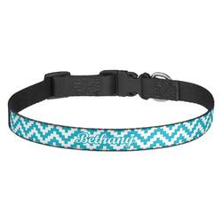 Pixelated Chevron Dog Collar - Multiple Sizes (Personalized)