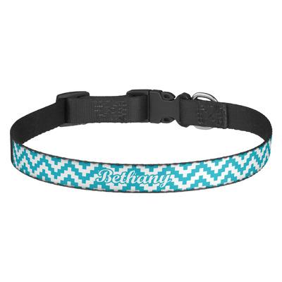 Pixelated Chevron Dog Collar (Personalized)
