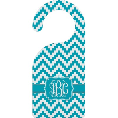 Pixelated Chevron Door Hanger (Personalized)