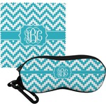 Pixelated Chevron Eyeglass Case & Cloth (Personalized)