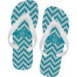Pixelated Chevron Flip Flops (Personalized)
