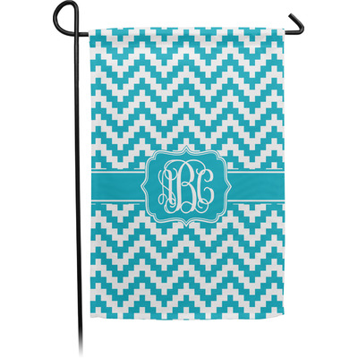Pixelated Chevron Garden Flag - Single or Double Sided (Personalized)