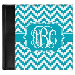 Pixelated Chevron Genuine Leather Baby Memory Book (Personalized)