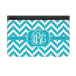 Pixelated Chevron Genuine Leather ID & Card Wallet - Slim Style (Personalized)