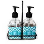 Pixelated Chevron Soap & Lotion Dispenser Set (Glass) (Personalized)