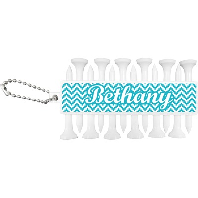 Pixelated Chevron Golf Tees & Ball Markers Set (Personalized)