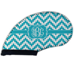 Pixelated Chevron Golf Club Cover (Personalized)