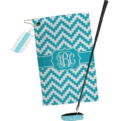 Pixelated Chevron Golf Towel Gift Set (Personalized)