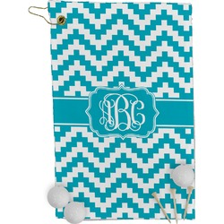 Pixelated Chevron Golf Towel - Full Print (Personalized)