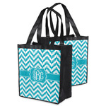 Pixelated Chevron Grocery Bag (Personalized)