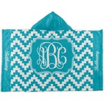 Pixelated Chevron Kids Hooded Towel (Personalized)