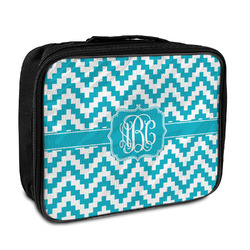 Pixelated Chevron Insulated Lunch Bag (Personalized)