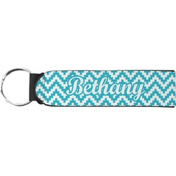 Pixelated Chevron Neoprene Keychain Fob (Personalized)