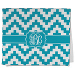 Pixelated Chevron Kitchen Towel - Full Print (Personalized)