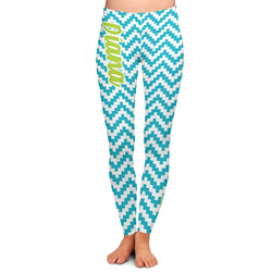 Pixelated Chevron Ladies Leggings - Extra Large (Personalized)