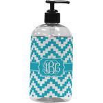 Pixelated Chevron Plastic Soap / Lotion Dispenser (Personalized)