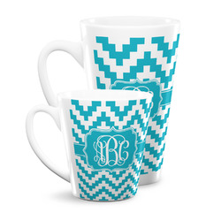 Pixelated Chevron Latte Mug (Personalized)