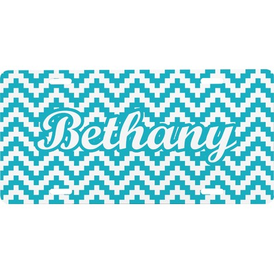 Pixelated Chevron Front License Plate (Personalized)