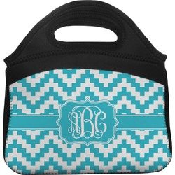 Pixelated Chevron Lunch Tote (Personalized)