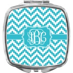 Pixelated Chevron Compact Makeup Mirror (Personalized)