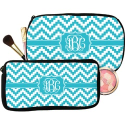 Pixelated Chevron Makeup / Cosmetic Bag (Personalized)