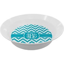 Pixelated Chevron Melamine Bowl (Personalized)