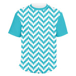 Pixelated Chevron Men's Crew T-Shirt (Personalized)