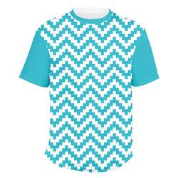 Pixelated Chevron Men's Crew T-Shirt (Personalized)