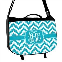 Pixelated Chevron Messenger Bag (Personalized)