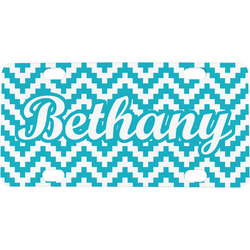 Pixelated Chevron Mini / Bicycle License Plate (Personalized)