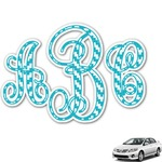 Pixelated Chevron Monogram Car Decal (Personalized)
